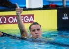 Tom Shields finally make an A-list USA Nationals Team, but not in 100 fly as he expected. He did it the hard way, suffering through a tough 200 fly…and a brutal final 50 meters. (courtesy of Tim Binning)
