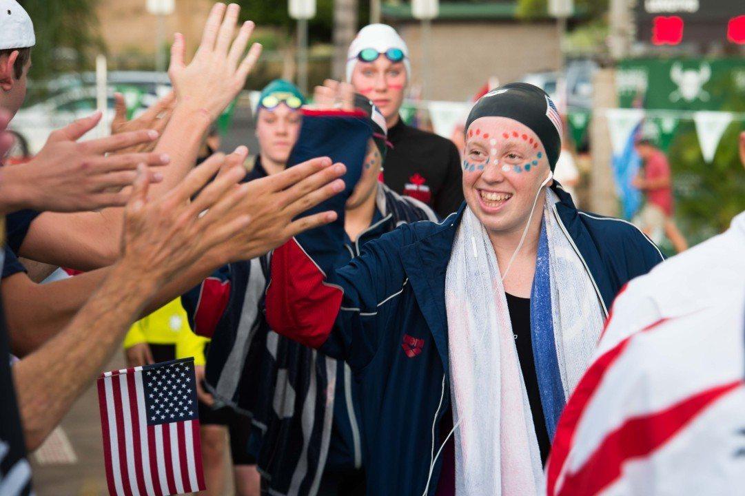 Friendship, Fun and Fast Swimming – Junior Pan Pacs Final Pool Night Photo Vault