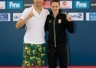 Chad le Clos & Katinka Hosszu - FINA Mastbank Swimming World Cup 2014 Dubai, UAE  2014 - Photo G. Scala/Deepbluemedia