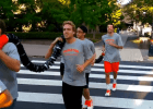 Video: Princeton Swimming's Famous Lane Line Run Through Campus