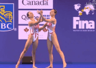 Huang Xuechen, Sun Wenyen, China, 2014 FINA Synchro FINA World Cup (courtesy of USN)
