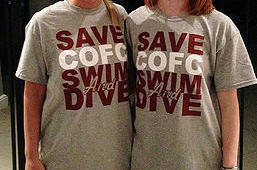 The new Save CofC Swim and Dive t-shirts, only $20! (courtesy:  savecofcswimanddive.com)