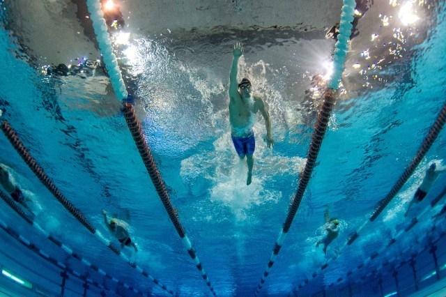 Connor Jaeger underwater swimming