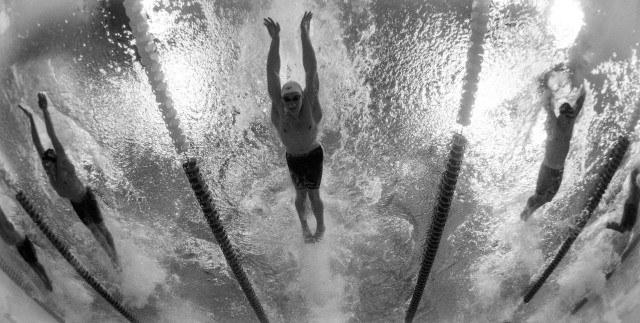 underwater swimming photo