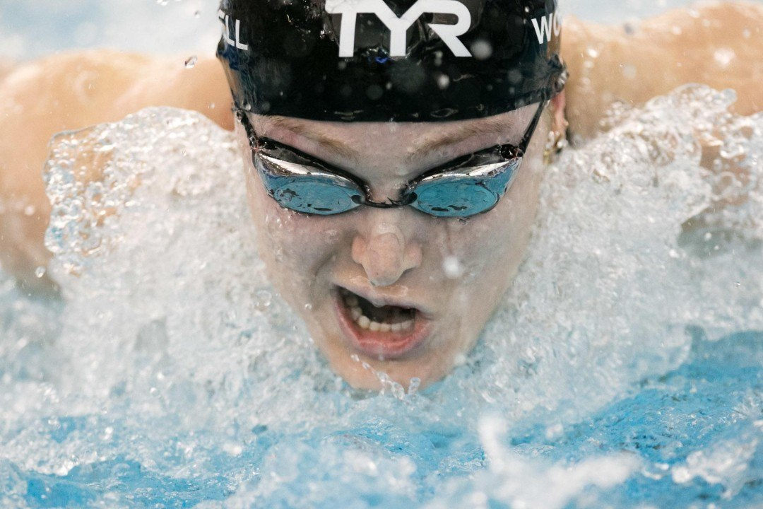 Kelsi Worrell 100 Butterfly Record Photo Highlights Plus Video of Parent's Celebration