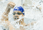 Caeleb Dressel scorches field as Freshman Phenom wins 50 (Video Interview)