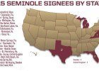 Florida State Signing Map