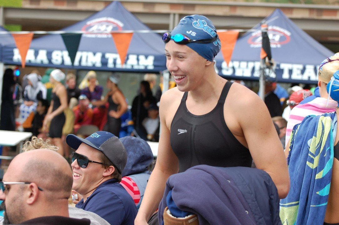 2015 CIF-SS Division I Prelims – Weitzeil, Wasting No Time, Breaks 50 and 100 Free National HS Records