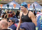 Abbey Weitzeil finally smiled after her 3rd national HS record at CIFSS Division I prelims. Photo: Anne Lepesant