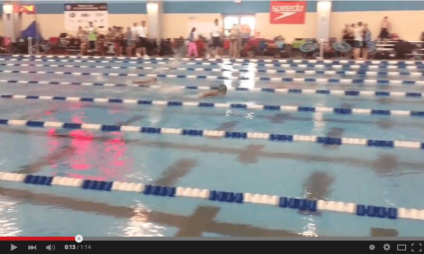 Watch andrew rogers swim fastest 10 under 100 meter fly in u s history for Rogers high school swimming pool