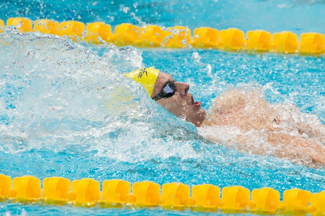 Larkin Sets New All Comers Record in the 200 Backstroke