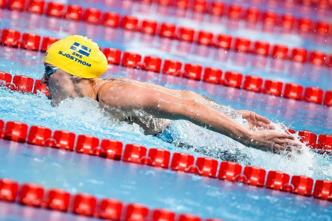 Sjostrom Leads 200 Free, 50 Fly Fields At Budapest World Cup Prelims