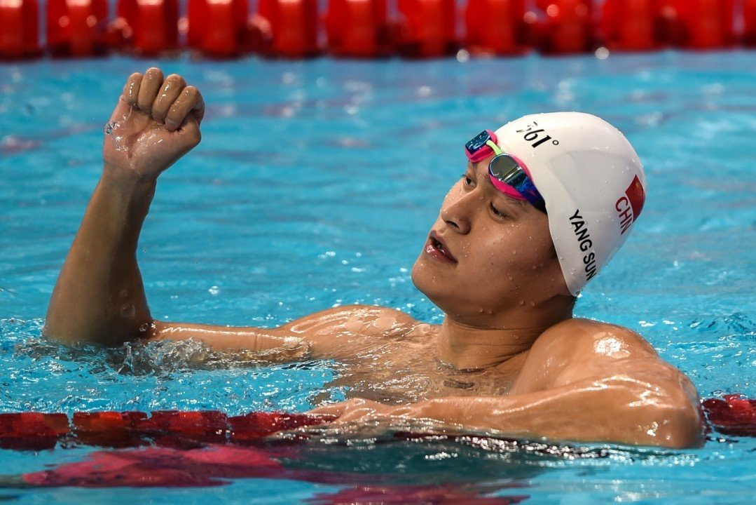 Sun Yang Nearly Beats His 400 Time From Kazan On Day 5 of Chinese Nationals