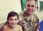 Soldier Returns Home To Surprise Son At Local Swim Meet (Video)