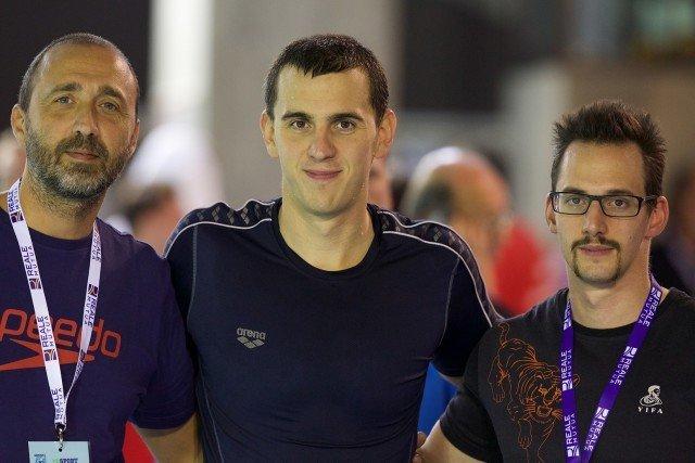 Laszlo Cseh (center), courtesy of Rafael Domeyko, Rafael Domeyko Photography