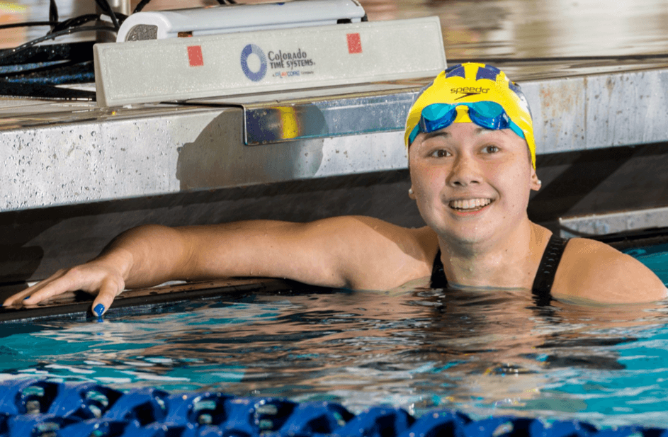 Michigan's Haughey Posts 48.5/1:45.7 Freestyle Wins Against Oakland