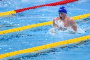 Adam Peaty in the 100 breaststroke.