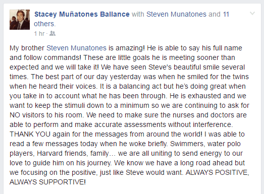 Steven Munatones 5-16 update