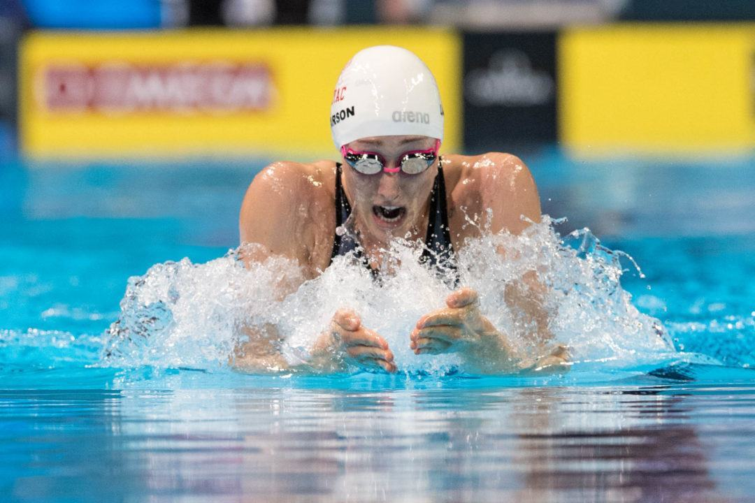 Breeja Larson Hits 9th-Fastest 200y Breast All-Time In College Station