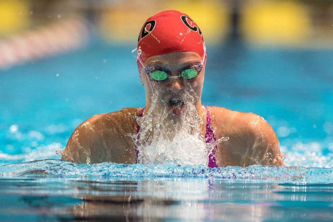 Emily Weiss Breaks Indiana HS Breaststroke Record in Prelims