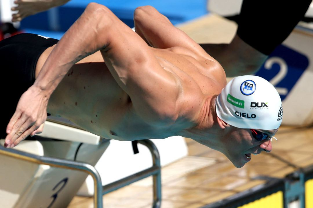 World Record Holder Cesar Cielo To Swim Until At Least 2018