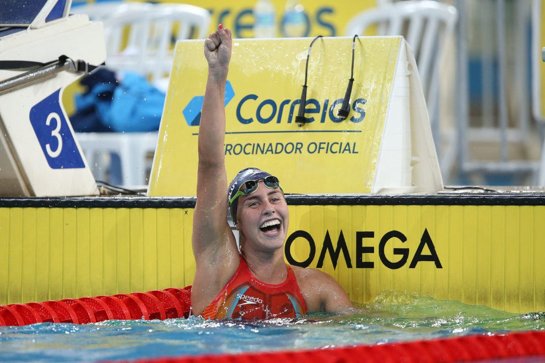 Jungblut Cuts 8 Seconds off of Brazilian 1500 Free Record to Qualify for Tokyo