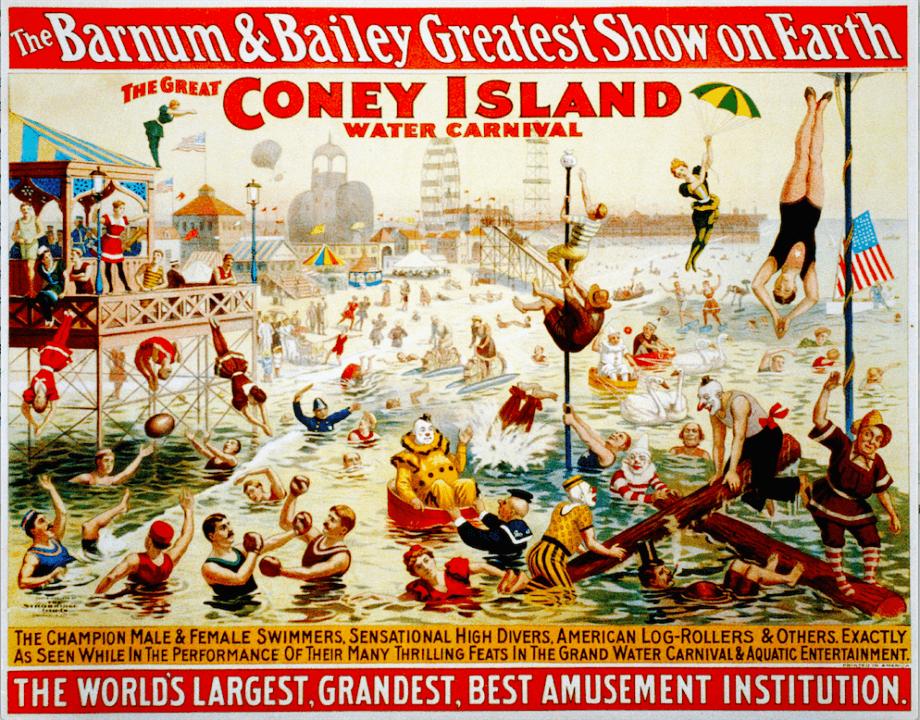 In Honor Of Barnum & Bailey Water Circus – ISHOF Offers Satin Prints