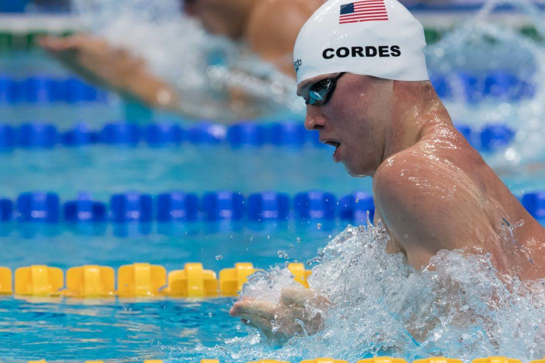 Kevin Cordes Breaks American Record with 58.6 100 Breast