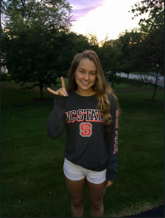 Illinois Backstroker Shannon Kearney Verbally Commits to NC State