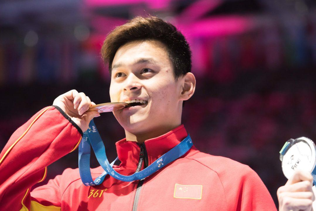 Sun Yang Gunning For 800 Gold In Tokyo, Looking To Continue To 2020