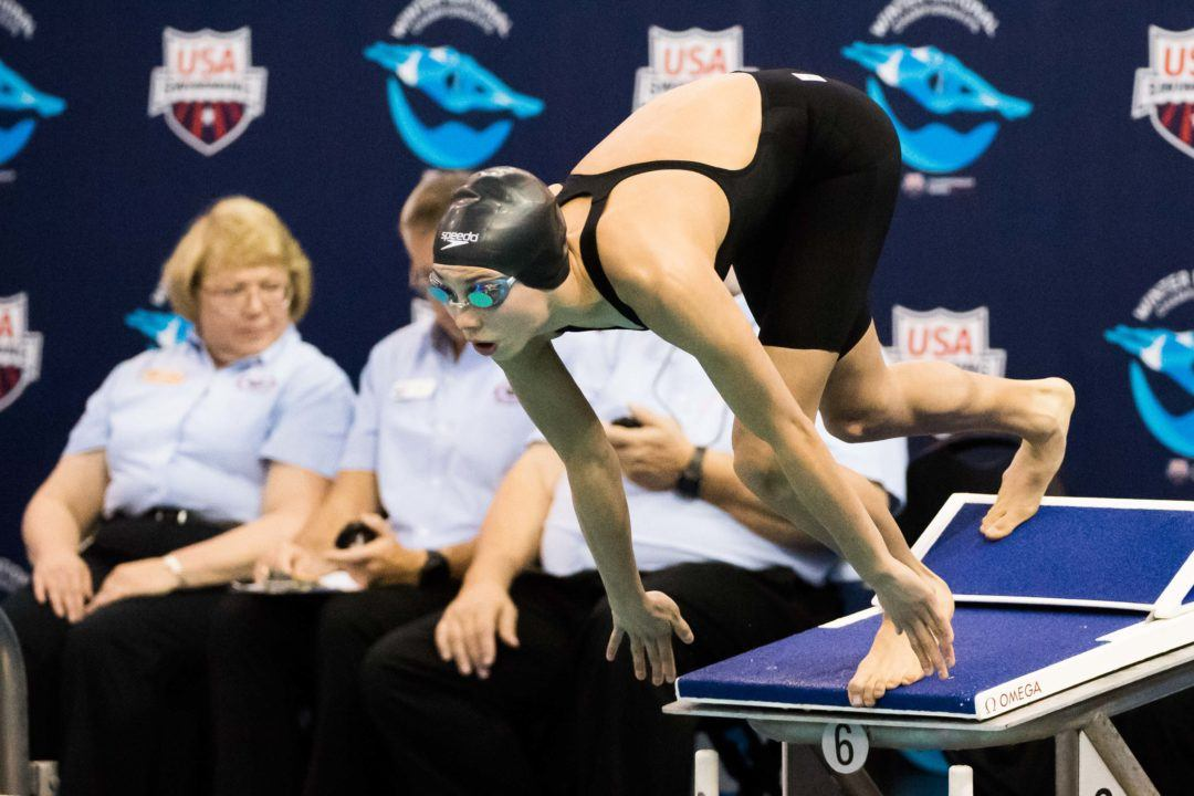 16-Yr-Old Torri Huske Wins 200 IM/50 FR on Night 5 of NCSA Summer JNats
