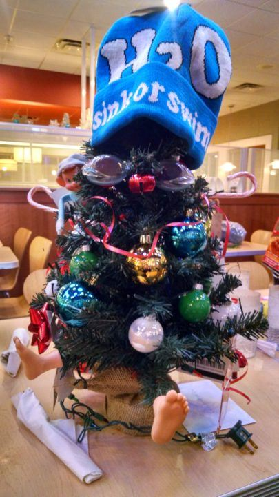 Dayton Swimmers Present Coaches With Funny Christmas Tree Gift