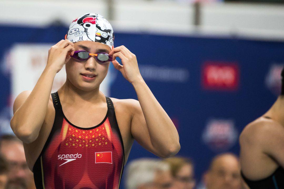Zhang Yufei, primera mujer china en rebajar los 53 segundos en los 100 libre