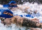 Olympic swimmer Caeleb Dressel by Mike Lewis