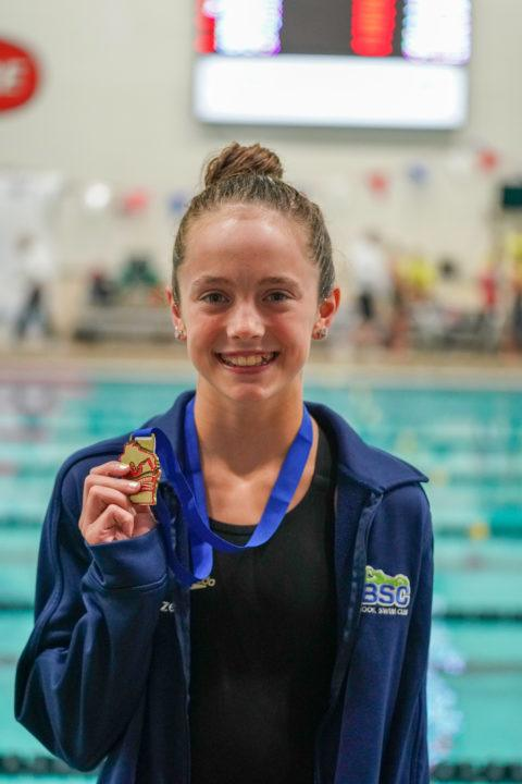 Maggie Wanezek, 13, Hits PR 1:02.19 in 100 Back at Minneapolis Sectionals