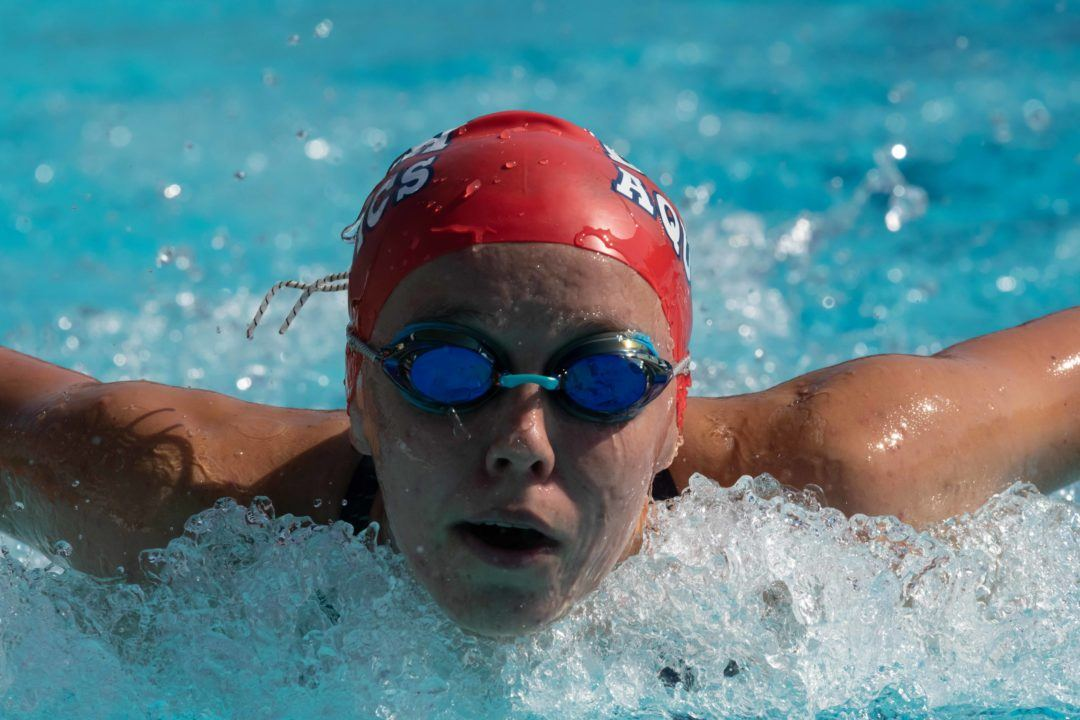 15-Year Old Justina Kozan Swims 1:56 in 200 Fly at Carlsbad Sectionals