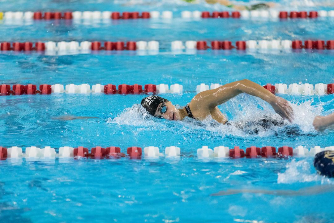 Bryant Women Sweep Day 1 at NEC Championships, Including Meet Record