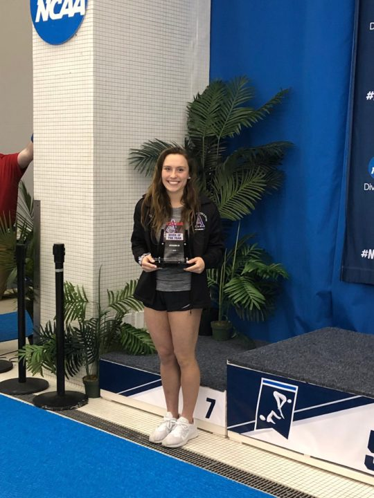 Three Swimmers or Divers Make Top 30 NCAA Woman of the Year Honorees