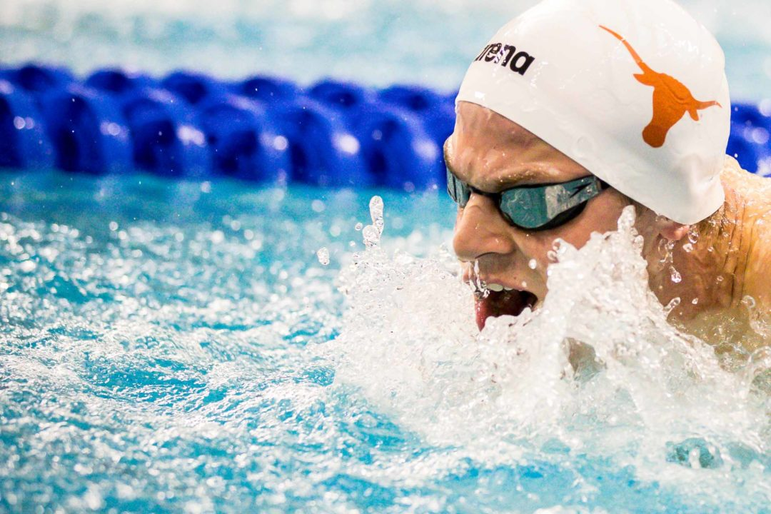 Braden Vines Hits Likely NCAA Invite Time at American Short Course Champs Day 1
