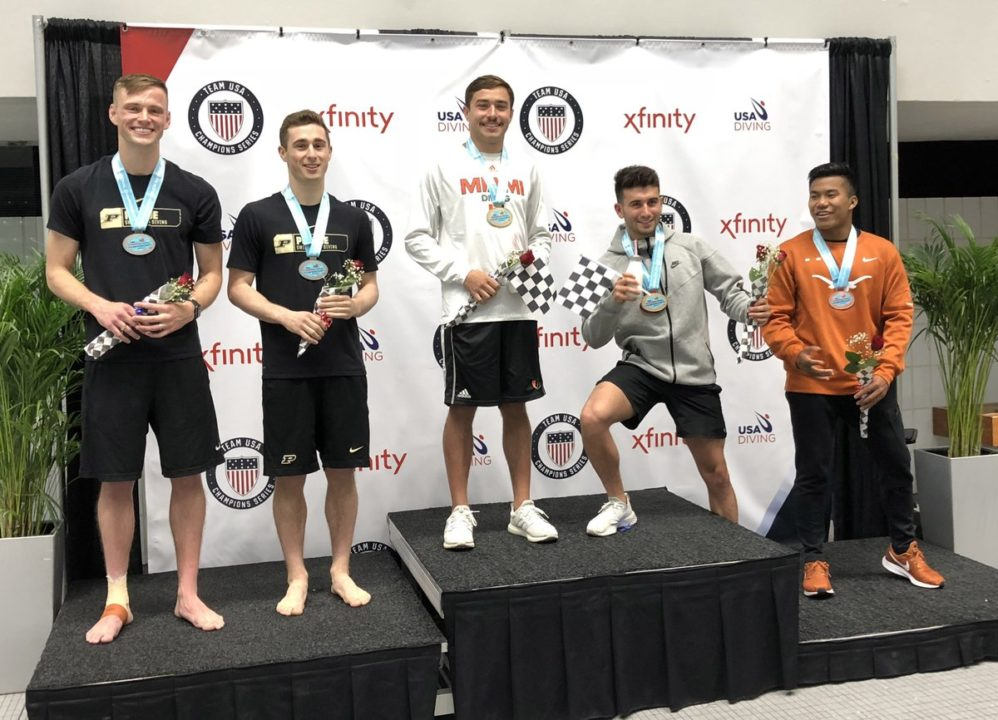 Women's 3-Meter Synchro, Men's 10-Meter Synchro Titles Awarded at USA Nationals