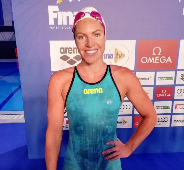 Il 29-anni 180 cm alto Emily Seebohm nel 2021