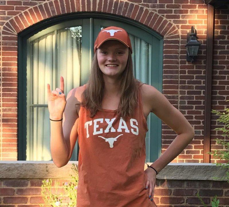 Colorado State Champion Backstroker Sydney Silver Verbally Commits to Texas