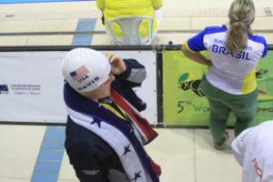 Collin Davis Breaks USA Deaf Swimming Record in 500 Yard Free