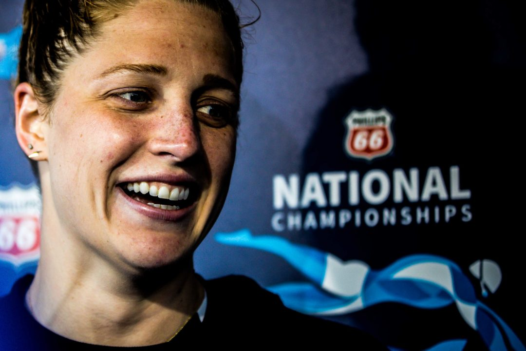 """Madisyn Cox on Weekend of 3-for-3 Best Times: """"I don't think I've been happier"""""""