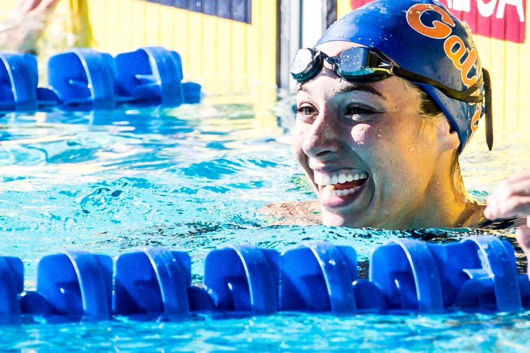 Vanessa Pearl Swims 2 Season Best Times as Florida Sweeps Quad Meet