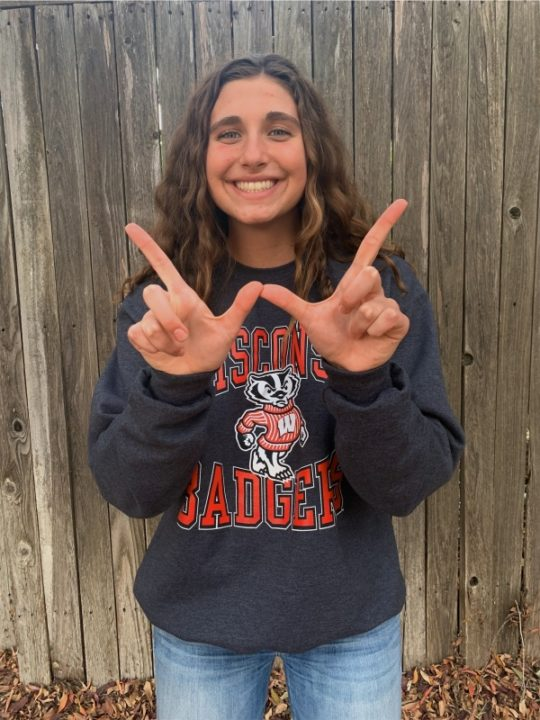 Wisconsin Picks Up Verbal from CIF Sac-Joaquin 100 Breast Champ Natalie Bercutt