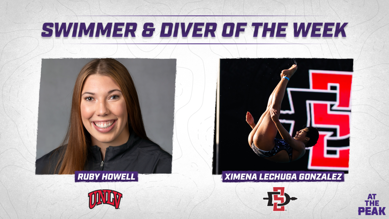 Howell, Lechuga Gonzalez Named Mountain West Swimmer & Divers of the Week