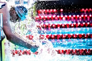 Zane Grothe will enter Trials as the only swimmer to have dipped below the FINA A cut in the event. (Photo: Jack Spitser)