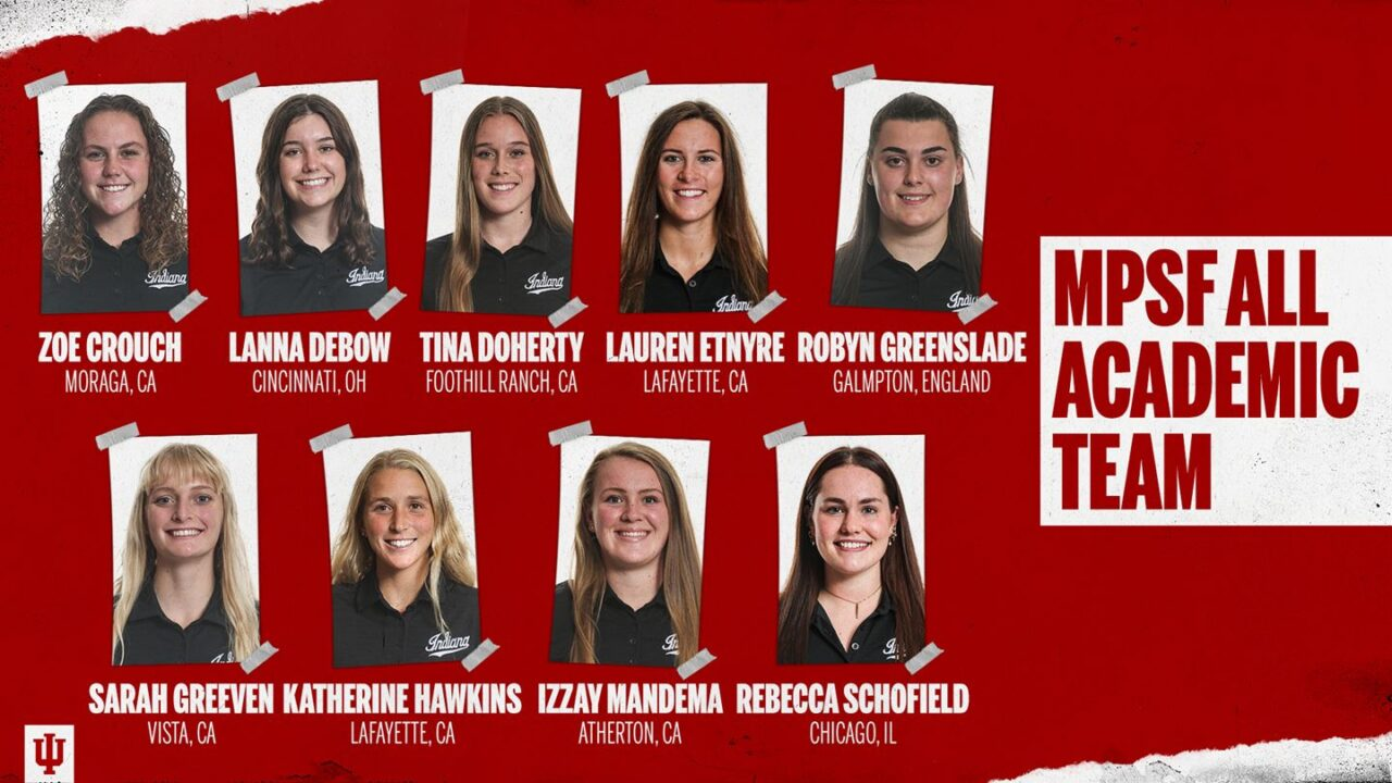 Nine Indiana Water Polo Players Earn MPSF All-Academic Team Honors