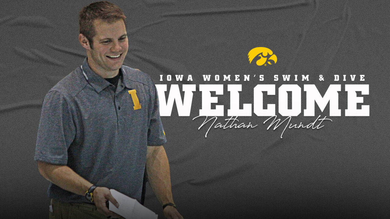 Iowa Hires Nathan Mundt as New Head Coach of the Women's Swimming & Diving Team